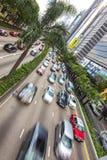 Hong Kong Cars- und Taxi-Verkehr Lizenzfreies Stockbild