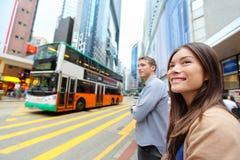 Hong Kong Causeway Bay-mensen het wallking royalty-vrije stock foto's