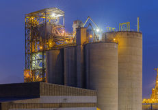Hong Kong Cement plant royalty free stock photography