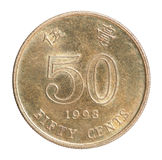 Hong Kong centmynt Arkivfoton
