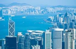 Hong Kong central Arkivbilder