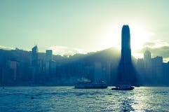 Hong Kong central Arkivbild
