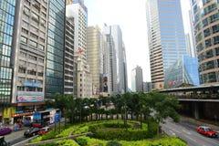 Hong Kong Central Financial District Royalty Free Stock Photo