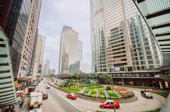 Hong Kong Central. In the morning Royalty Free Stock Photography