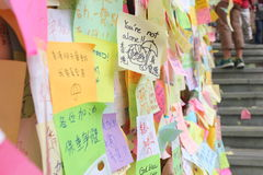 Hong Kong, Central, Umbrella revolution. Sit-in protests in Hong Kong involving mass civil disobedience began in September 2014. Also called the Umbrella Stock Images