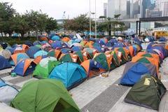 Hong Kong, centrale, rivoluzione dell'ombrello Fotografia Stock