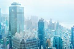 Hong Kong centrum biznesu obrazy royalty free