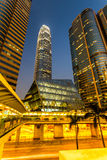 Hong Kong centrum biznesu. Zdjęcia Royalty Free