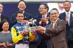 Hong Kong Champion Jockey : Douglas Whyte Royalty Free Stock Images