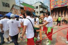 2015 Hong Kong Cheung Chau Bun-Festival Stock Afbeelding