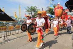 Hong Kong Cheung Chau Bun festival 2015 arkivfoton