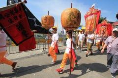 2015 Hong Kong Cheung Chau Bun-Festival Stock Foto's