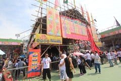 2015 Hong Kong Cheung Chau Bun-Festival Stock Afbeeldingen