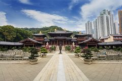 Chi Lin Nunnery - Hong Kong. Chi Lin Nunnery at Hong Kong stock photo