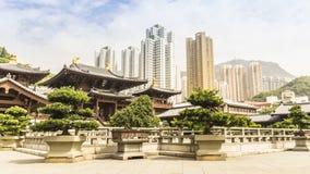 Hong Kong. Chi lin Nunnery, Tang dynasty style Chinese temple, Hong Kong Royalty Free Stock Photo