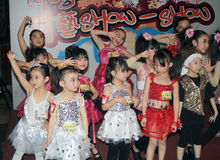 Hong Kong child christmas dancing event Royalty Free Stock Images
