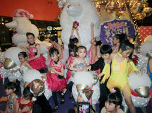 Hong Kong child christmas dancing event Royalty Free Stock Photo