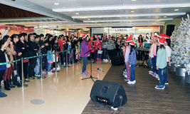 Hong Kong child christmas singing event Royalty Free Stock Photos