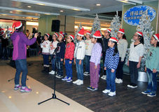 Hong Kong child christmas singing event Stock Photos