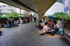 Pedestrian transition, HONG KONG, CHINA royalty free stock photos