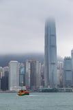 HONG KONG, CHINA/ASIA - 29 DE FEVEREIRO: Ideia da skyline em Hong fotografia de stock royalty free
