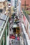 HONG KONG, CHINA/ASIA - 27 FEBBRAIO: Scena urbana nel 'chi' di Hong Kong fotografie stock libere da diritti