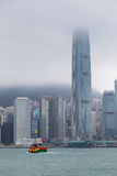 HONG KONG, CHINA/ASIA - 29 FEBBRAIO: Vista dell'orizzonte in Hong fotografia stock libera da diritti