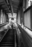 HONG KONG CHINA/ASIA - FEBRUARI 27: Rulltrappa i Hong Kong på Fe arkivbilder