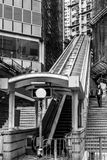 HONG KONG CHINA/ASIA - FEBRUARI 27: Rulltrappa i Hong Kong på Fe arkivfoton