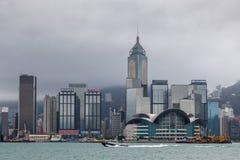 HONG KONG CHINA/ASIA - FEBRUARI 29: Sikt av horisonten i Hong royaltyfria foton