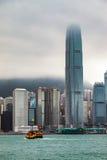 HONG KONG CHINA/ASIA - FEBRUARI 29: Sikt av horisonten i Hong royaltyfria bilder