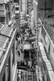 HONG KONG CHINA/ASIA - FEBRUARI 27: Stads- plats i Hong Kong på royaltyfri fotografi