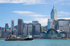 Hong Kong Skyline From Victoria Harbour Stock Images