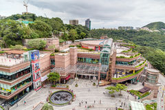 Hong Kong, China - circa September 2015: The Peak Galleria shopping mall and entertainment center on top of Victoria Peak in Hong Royalty Free Stock Photography