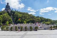 Hong Kong, China - circa September 2015: Tian Tan Big Buddha at Po Lin Monastery on Lantau Island, Hong  Kong Royalty Free Stock Photo
