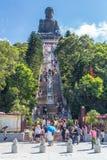 Hong Kong, China - circa September 2015: Treden aan Tian Tan Big Buddha in Po Lin Monastery op Lantau-Eiland, Hong Kong Royalty-vrije Stock Foto