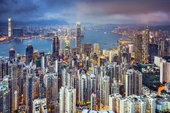Hong Kong China City Skyline Royalty Free Stock Image