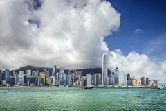 Hong Kong China City Skyline Stockbild