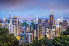 Hong Kong China City Skyline Stockfoto