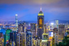 Hong Kong China City Skyline Lizenzfreie Stockfotografie