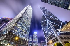 Hong Kong China City Skyline Stockbilder