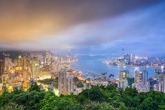 Hong Kong, China City Skyline Stock Images