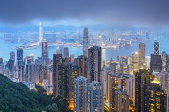 Hong Kong, China City Skyline Royalty Free Stock Images