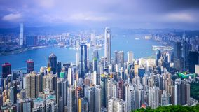Hong Kong, China City Skyline Stock Photo