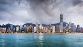 Hong Kong, China City Skyline Stock Images