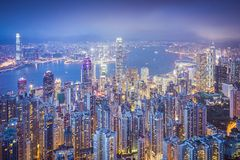 Hong Kong China City Skyline Royalty Free Stock Images