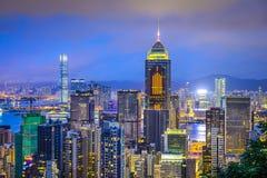 Hong Kong China City Skyline. Hong Kong, China city skyline from Victoria Peak Royalty Free Stock Photography