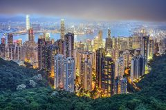 Hong Kong China City Skyline Stock Photos