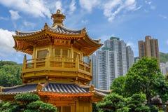 Hong Kong, China. Close Up Of Pagoda In Nan Lian Garden Royalty Free Stock Image