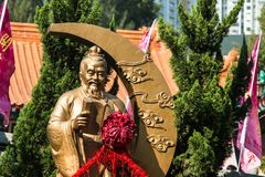 HONG KONG, CHINA - 11 de diciembre de 2016: Dios de la boda Imagenes de archivo